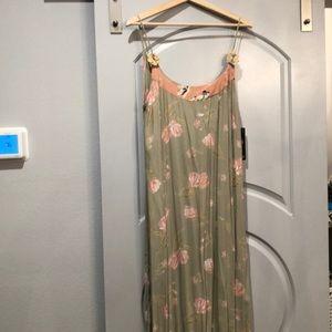 Vintage 90's ZOE floral slip dress. NWT! Deadstock